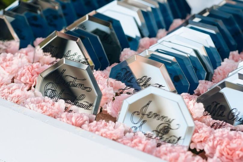 The wedding giveaways