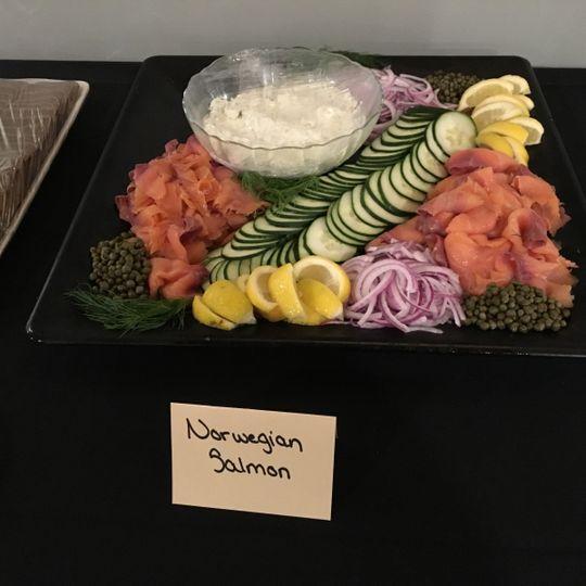 Norwegian salmon dish