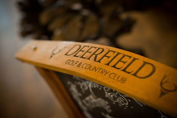 Deerfield event sign