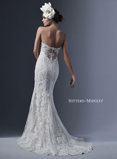 Low back line wedding dress