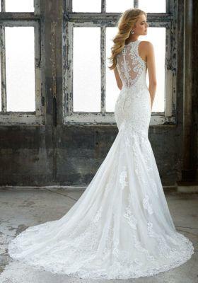 Back details of wedding dress