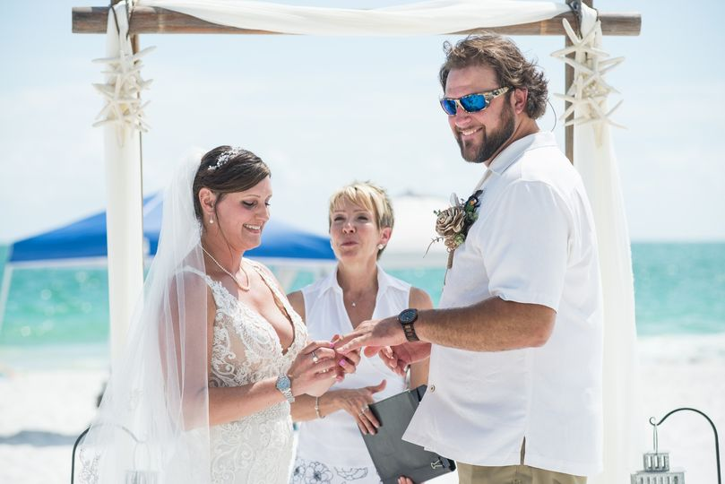 Barefoot beach wedding