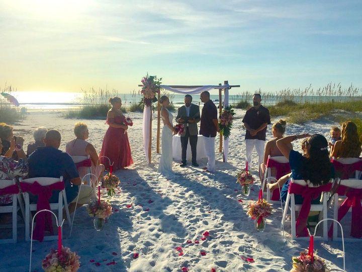 Island wedding ceremony