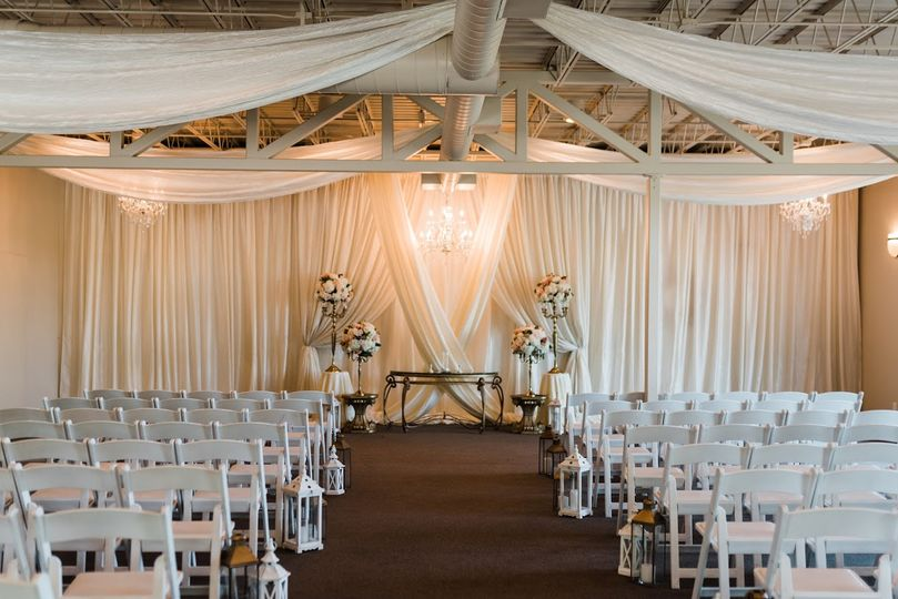 Inside ceremony site