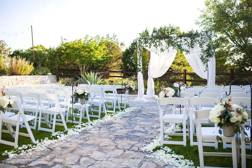 Ceremony with greenery