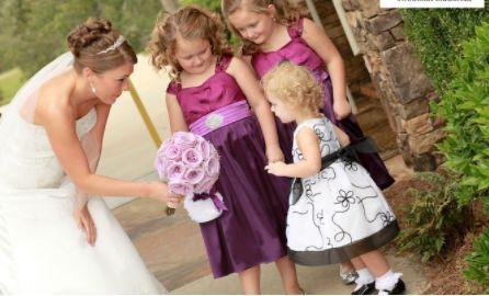 Bride and her junior bridesmaids