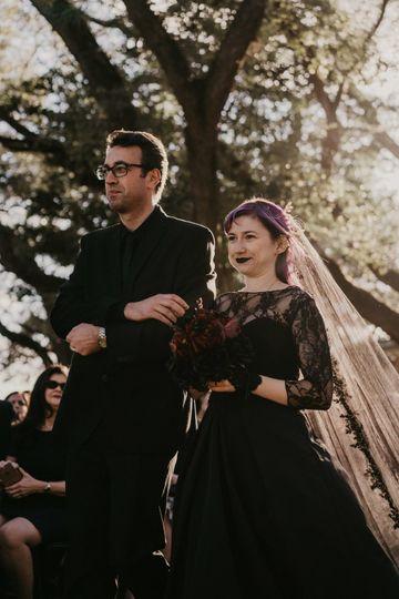 Gothic Wedding Robins Lodge