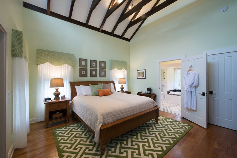 Full view of the bedroom