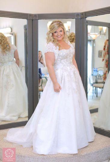 Short sleeved wedding dress
