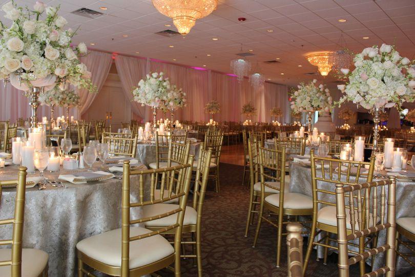 Draping in Crystal ballroom