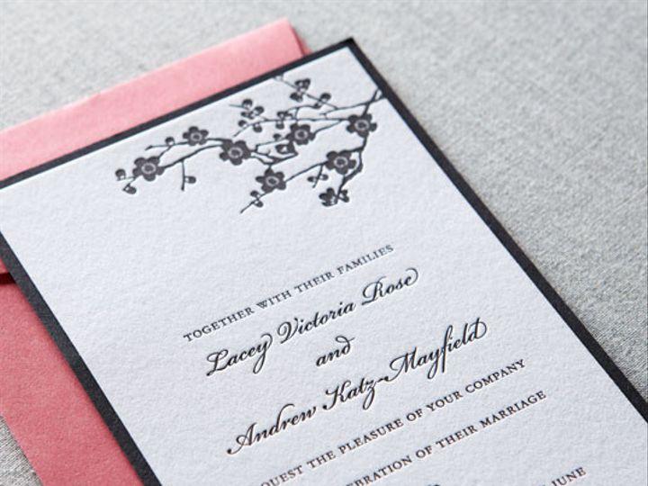 Tmx 1437762578401 Dp1gallerywoodcutblossomdauphinepressletterpress02 Ridgefield, New Jersey wedding invitation