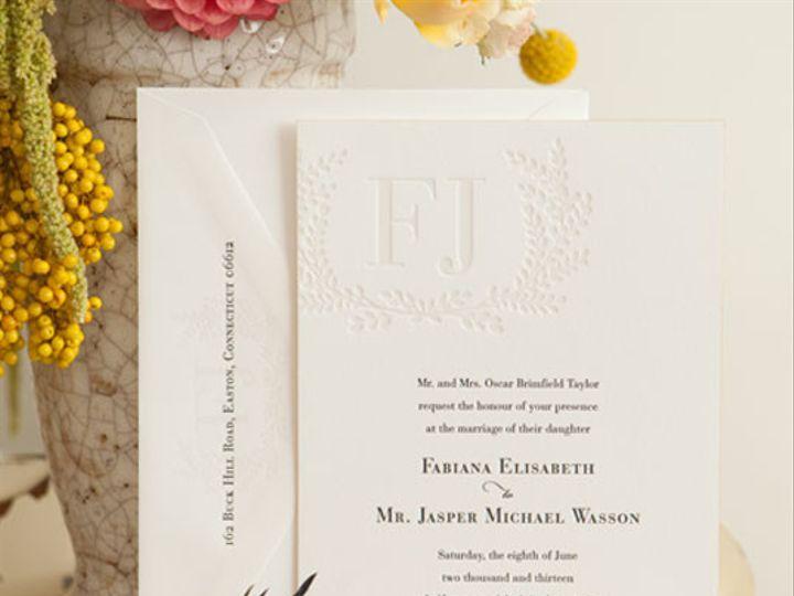 Tmx 1437762627024 Gallerycarneros06adauphinepressletterpressedging Ridgefield, New Jersey wedding invitation