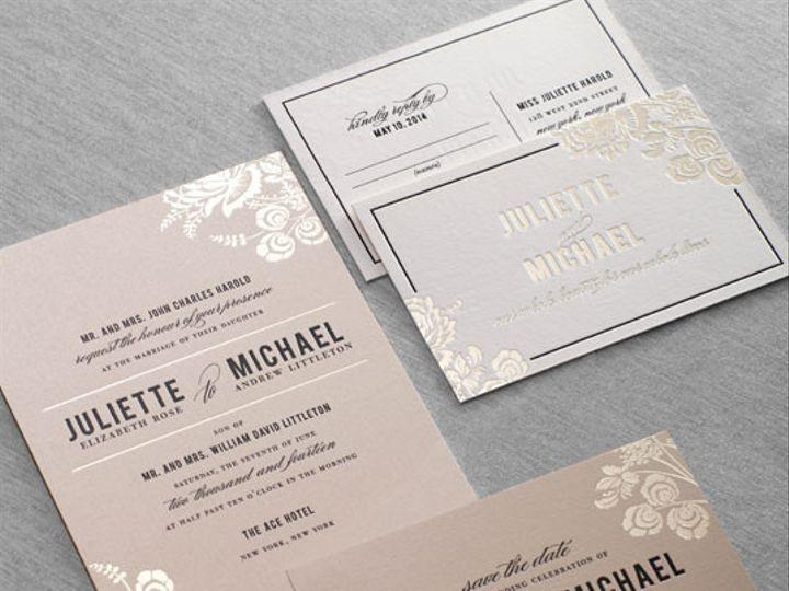 Tmx 1437762634493 Gallerystinsondauphinepressletterpressfoil04 Ridgefield, New Jersey wedding invitation