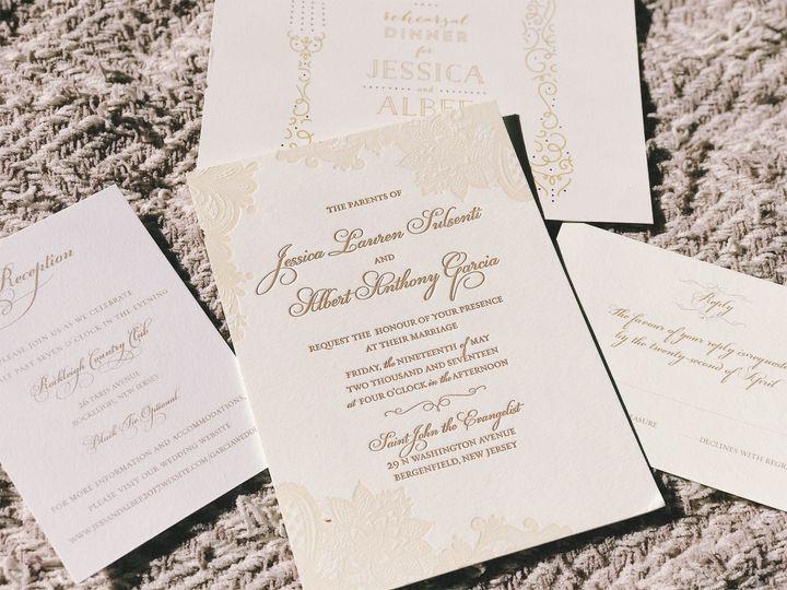 Tmx 1506541467385 Invite On Carpet Ridgefield, New Jersey wedding invitation