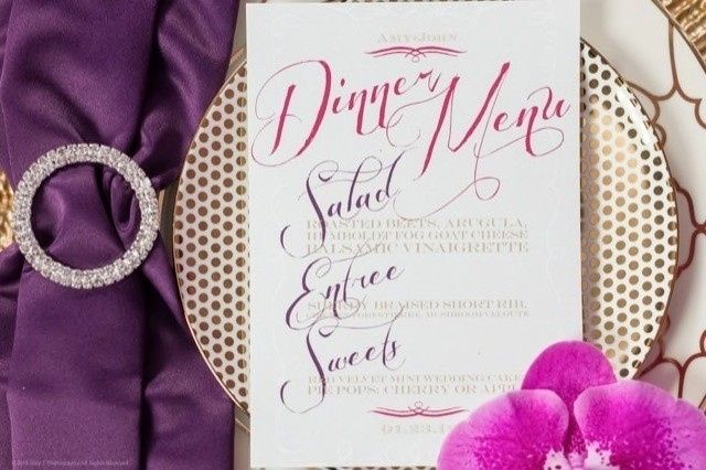 purple and gold styled shoot joey t photography9 6