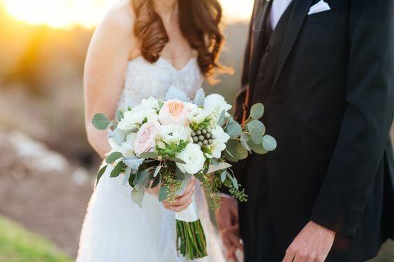 White + blush- Texas Blooms