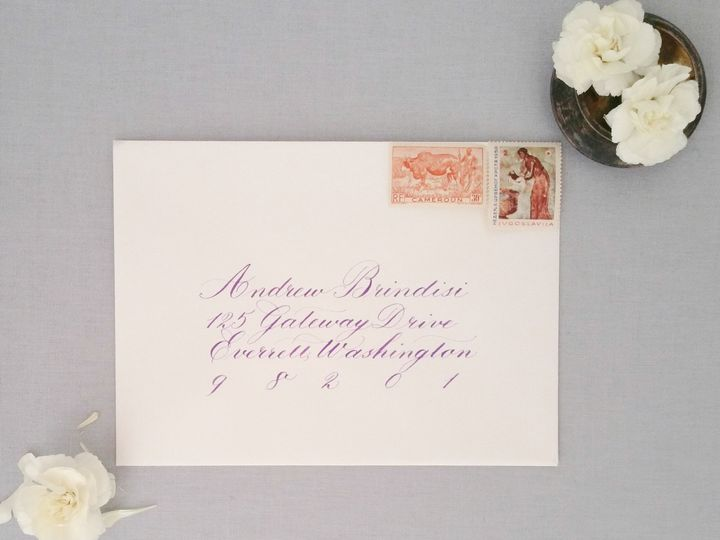Tmx Ba Girl Details Envelope 2 51 310128 Milwaukee, WI wedding invitation