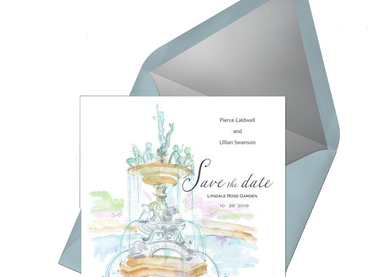 Tmx Lyndalerosegarden Envelope 51 921128 1563664146 Minneapolis, MN wedding invitation