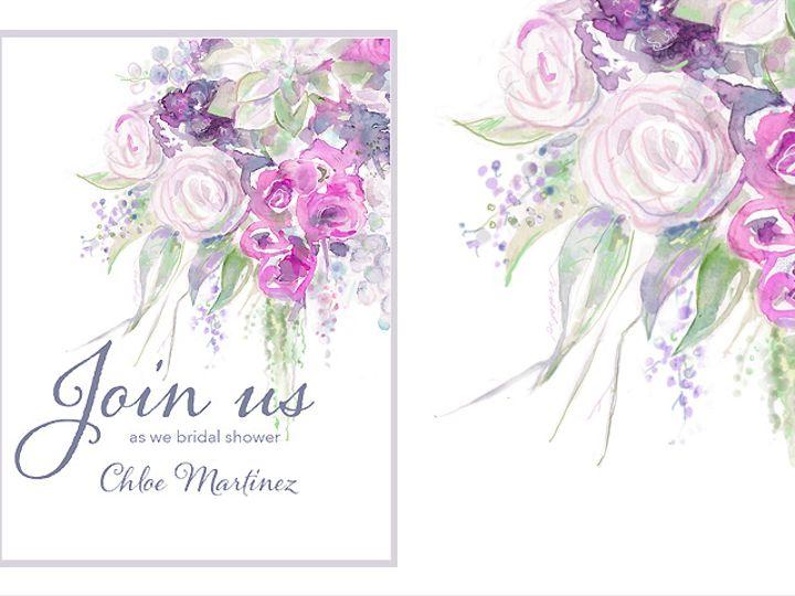 Tmx Purpleboquetjoinus Knot 51 921128 Minneapolis, MN wedding invitation