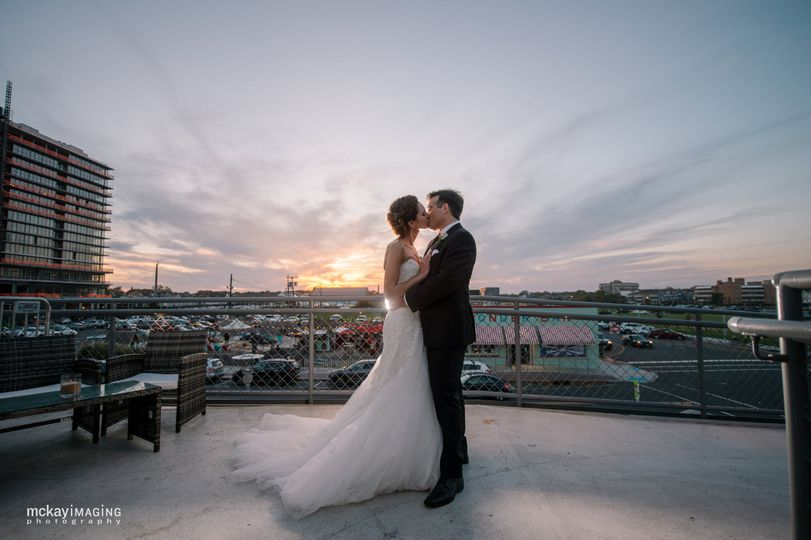 Kissing at the rooftop