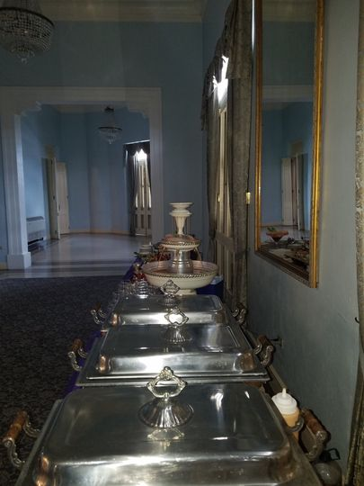 Champagne fountains