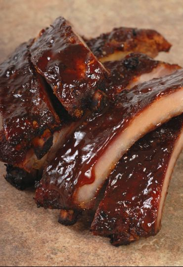 BBQ meat and sauce