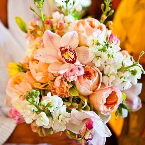 bouquet with cymbidum orchids