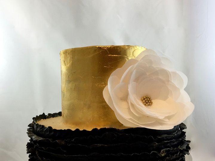 Tmx 1465407084212 Mg Custom Blk And Gold Daly City wedding cake