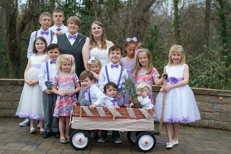 The bridal attendants