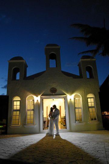 beachfront wedding chapel at el dorado royale