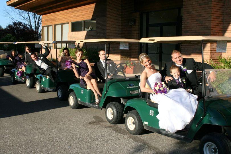 golf cart enterance