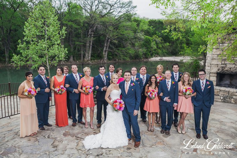 Couple with bridesmaid and groomsmen