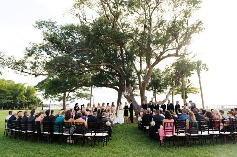 Charles Ringling Estate at New College Wedding Officiated by A Wedding with Grace