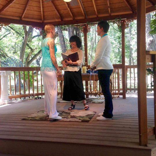 The wedding vows