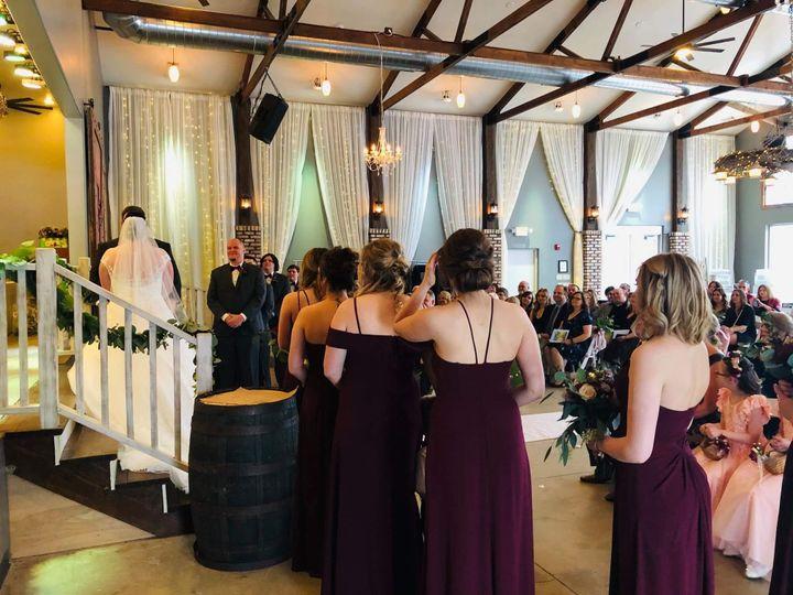 Barn indoor ceremony