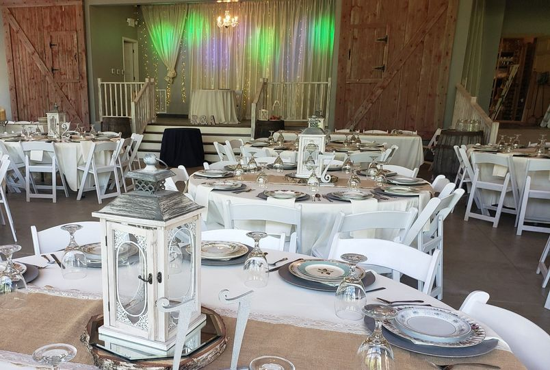 Barn view of head table