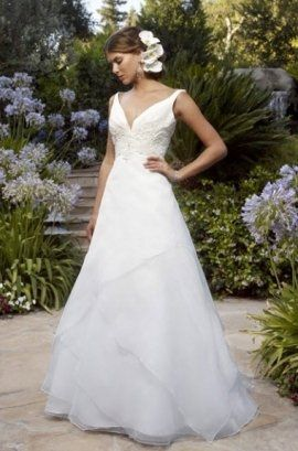 Organza gown by Casablanca Bridal.  Bellima Bridal offers their complete collections.