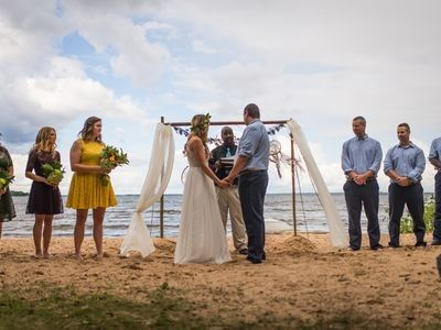 Wedding on the beach in September