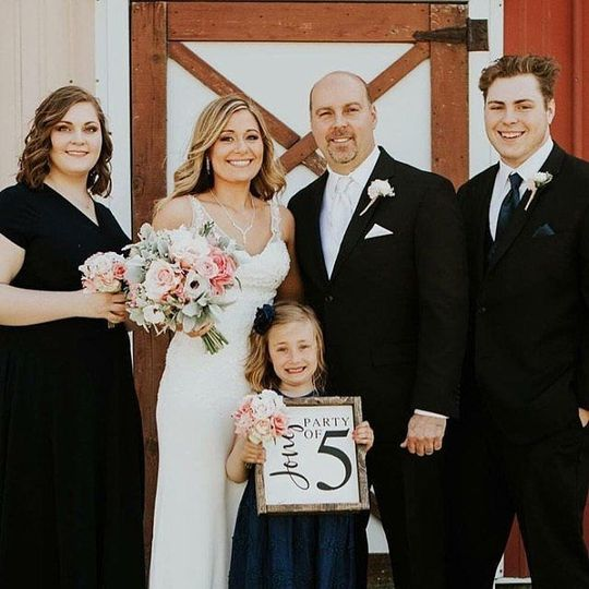 Newlyweds with family