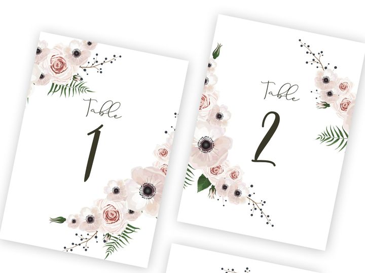 Tmx Guest Table Numbers 51 1002228 159285158280338 Buffalo, NY wedding invitation