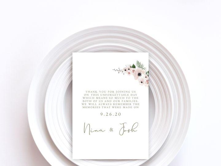 Tmx Menu Card Sample 11 51 1002228 159285257888465 Buffalo, NY wedding invitation