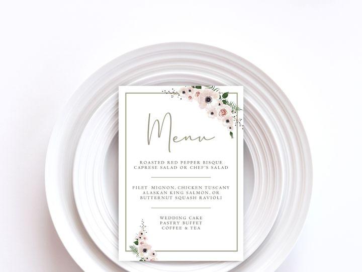 Tmx Menu Card Sample 12 51 1002228 159285261740452 Buffalo, NY wedding invitation