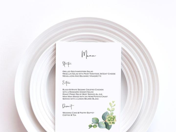 Tmx Menu Card Sample 1a 51 1002228 159285229558427 Buffalo, NY wedding invitation