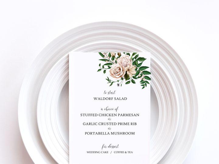 Tmx Menu Card Sample 2a 51 1002228 159285229696709 Buffalo, NY wedding invitation