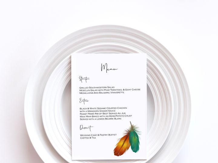 Tmx Menu Card Sample 5 51 1002228 159285229724245 Buffalo, NY wedding invitation