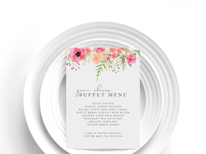 Tmx Menu Card Sample 8a 51 1002228 159285229723377 Buffalo, NY wedding invitation