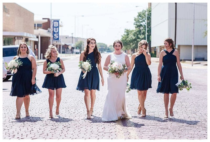 Bridal Party downtown Lubbock