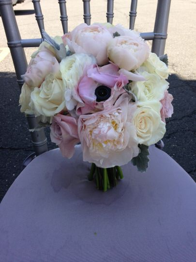 Beautiful peony, rose and rannunculus bouquet
