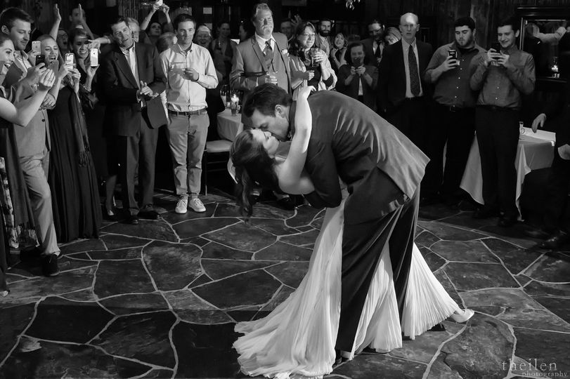 Kiss at the reception
