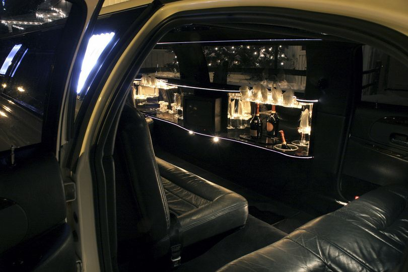 Inside the limousine
